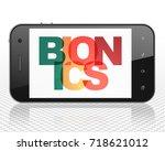 science concept  smartphone... | Shutterstock . vector #718621012