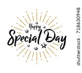 happy special day   fireworks   ... | Shutterstock .eps vector #718630948