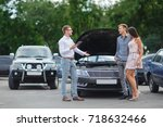 buying used car. car dealer... | Shutterstock . vector #718632466