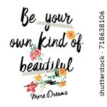 be you  slogan with pearl and... | Shutterstock .eps vector #718638106