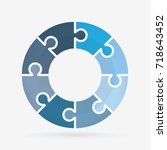 vector circle for infographic... | Shutterstock .eps vector #718643452