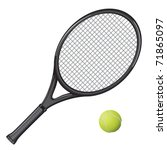 isolated image of a tennis... | Shutterstock .eps vector #71865097