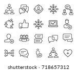 premium set of social network... | Shutterstock .eps vector #718657312