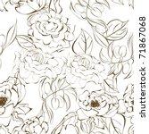 seamless floral wallpaper | Shutterstock .eps vector #71867068