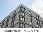 apartment block flat blocks...   Shutterstock . vector #718679578