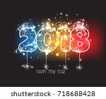 New Years 2018 Polygonal Line...