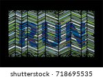 run text  consists of lines...   Shutterstock .eps vector #718695535