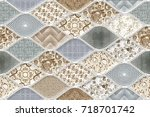 abstract home decorative art... | Shutterstock . vector #718701742