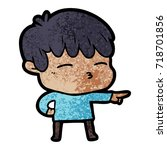 cartoon curious boy   Shutterstock .eps vector #718701856