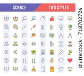 set vector line icons  sign and ... | Shutterstock .eps vector #718702726