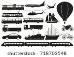 vector set of isolated abstract ... | Shutterstock .eps vector #718703548