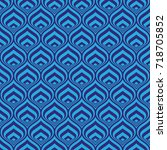 blue  geometric pattern... | Shutterstock .eps vector #718705852