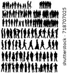silhouette  people vector ... | Shutterstock .eps vector #718707025