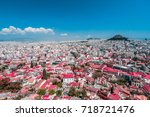 athens and lykavitos hill from... | Shutterstock . vector #718721476