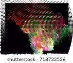 abstract background. spotted... | Shutterstock .eps vector #718722526