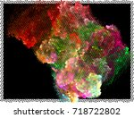 abstract background. spotted... | Shutterstock .eps vector #718722802