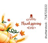 thanksgiving day card | Shutterstock . vector #718723222