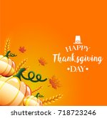 thanksgiving day card | Shutterstock . vector #718723246
