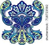 paisley amazing isolated... | Shutterstock .eps vector #718723582