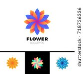 abstract flower resort spa logo ... | Shutterstock .eps vector #718726336