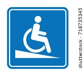 signal ramp down handicapped ... | Shutterstock .eps vector #718735345