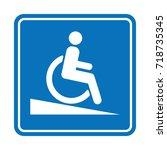 signal ramp down handicapped ...   Shutterstock .eps vector #718735345