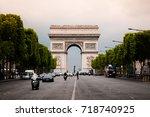 june 5  2011 paris  france  ... | Shutterstock . vector #718740925