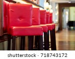 High Red Bar Stools Standing I...