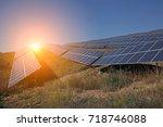 solar panels   Shutterstock . vector #718746088