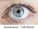 eyes of technologies in the... | Shutterstock . vector #718746232