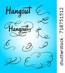 hangout swash and tiles... | Shutterstock .eps vector #718751512