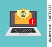 email spamming attack. email... | Shutterstock .eps vector #718755355