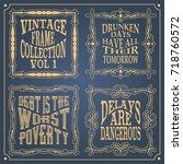 vintage frame templates...   Shutterstock .eps vector #718760572