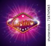 illustration on a casino theme... | Shutterstock . vector #718769065