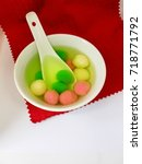 Small photo of Tang Yuan traditionally eaten during Lantern Festival and also served as a dessert on Chinese wedding day, Winter Solstice Festival