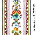 hand crafted ethnic art of... | Shutterstock . vector #718773532