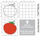 copy the picture using grid... | Shutterstock .eps vector #718778656