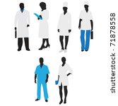 silhouettes of medical staff... | Shutterstock .eps vector #71878558