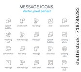 message theme  line icon set....