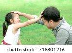 asian man and asian girl  relax ... | Shutterstock . vector #718801216