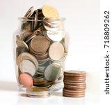 save money save money concept... | Shutterstock . vector #718809262