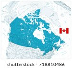 giant detailed road map of... | Shutterstock .eps vector #718810486