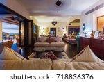tropical luxury villa interior  ... | Shutterstock . vector #718836376