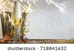 new years eve celebration... | Shutterstock . vector #718841632
