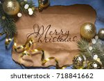 christmas holiday background | Shutterstock . vector #718841662