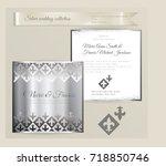 luxury wedding invitation... | Shutterstock .eps vector #718850746