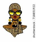 Beautiful Black Woman Wearing ...