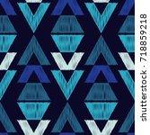 ethnic boho seamless pattern.... | Shutterstock .eps vector #718859218