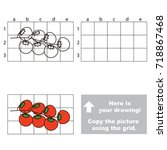 copy the picture using grid... | Shutterstock .eps vector #718867468