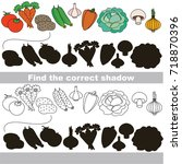 vegetable set to find the... | Shutterstock .eps vector #718870396